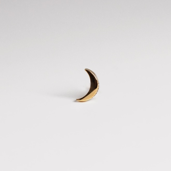 lunaire earring ; dark moon