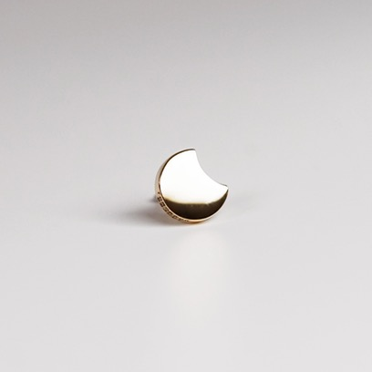 lunaire earring ; crescent moon 01
